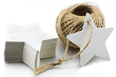 Fiveseasonstuff pcs kraft papier Étiquettes vide pour mariage