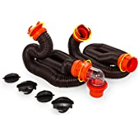 $34 Get Camco 20' RhinoFLEX 20-Foot RV Sewer Hose Kit, Swivel Transparent Elbow with 4-in-1 Dump…