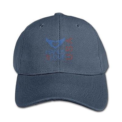 Hand of Love USA Unisex Design 100% Cotton Snapback Hip-Hop Hat Flat Peaked Baseball Cap Adjustable Cap Hat for Boy &Girl Navy