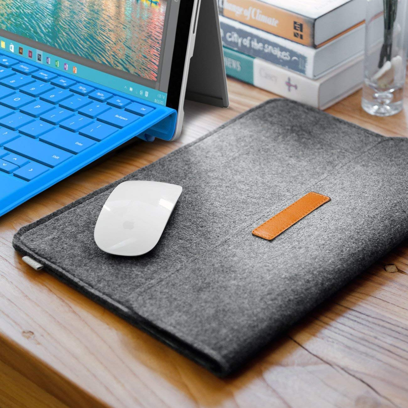 Inateck 12.3-13 Inch Laptop Sleeve Case Compatible 2018 MacBook Air, MacBook Pro 13'' 2018/2017/2016 (A1989/A1706/A1708)/Microsoft Surface Pro 6/5/4/3,  - Dark Gray by Inateck (Image #4)
