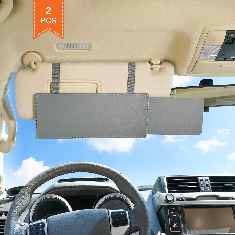 Tfy Blendfreie Sonnenblendenverlängerung Für Autofenster Sonnenblende Und Uv Strahlen Blocker Grau 2 Stück Auto