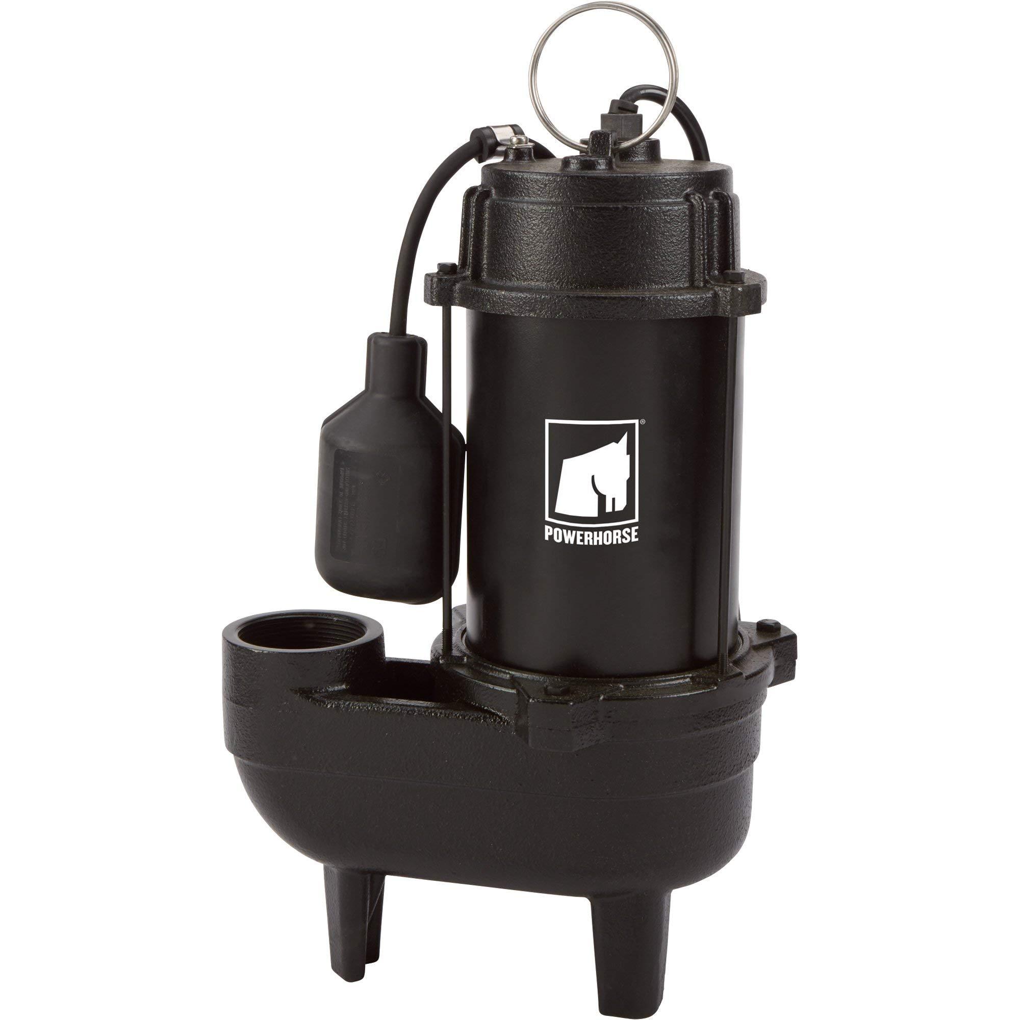 Powerhorse Cast Iron Sewage Pump - 4,180 GPH, 1/2 HP, 2in. Ports by Powerhorse