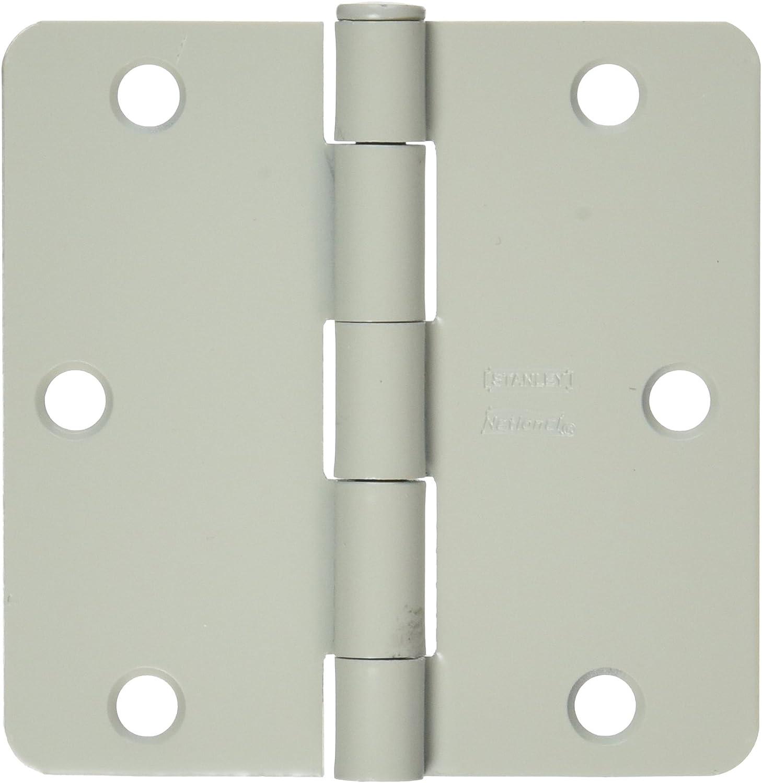 White NATIONAL MFG//SPECTRUM BRANDS HHI N830-336 Hinge 3.5-Inch