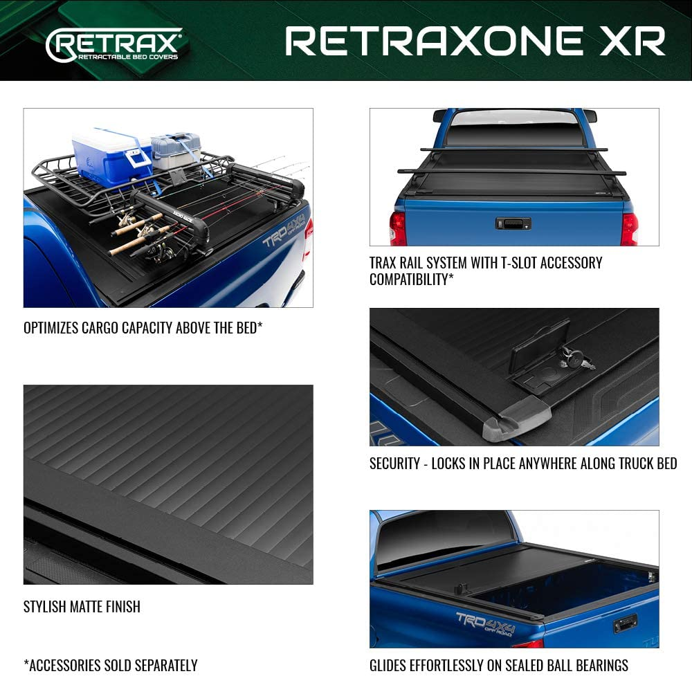 10370 fits F-150 Super Crew /& Super Cab 5.5 Bed 15-18 RetraxONE Retractable Truck Bed Tonneau Cover