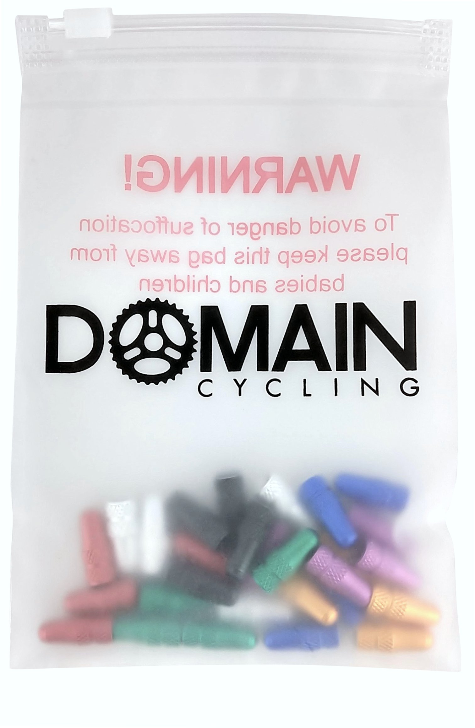 Domain Cycling 28 Pack Presta Valve Cap Multi-Color Anodized Machined Aluminum Alloy Bicycle Bike Tire Valve Caps Dust Covers French Style by Domain Cycling (Image #1)