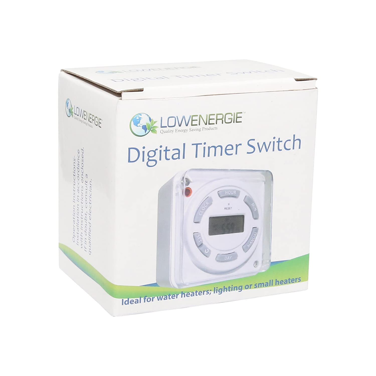 16A Lowenergie Digital Water Immersion Heater Timer 7 Day ...