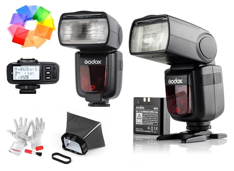 2 Pcs Godox Ving V860IIS 2.4G GN60 TTL HSS 1/8000s リチウムオン電池カメラフラッシュスピードライト - 1.5Sリサイクルタイム650フルパワーポップ TTL/ M/マルチ/ S1/ S2をサポート ソニー用X1T-Sワイヤレスフラッシュトリガー付き Sonyソニーデジタル一眼レフカメラに対応   B01FNWR4EO