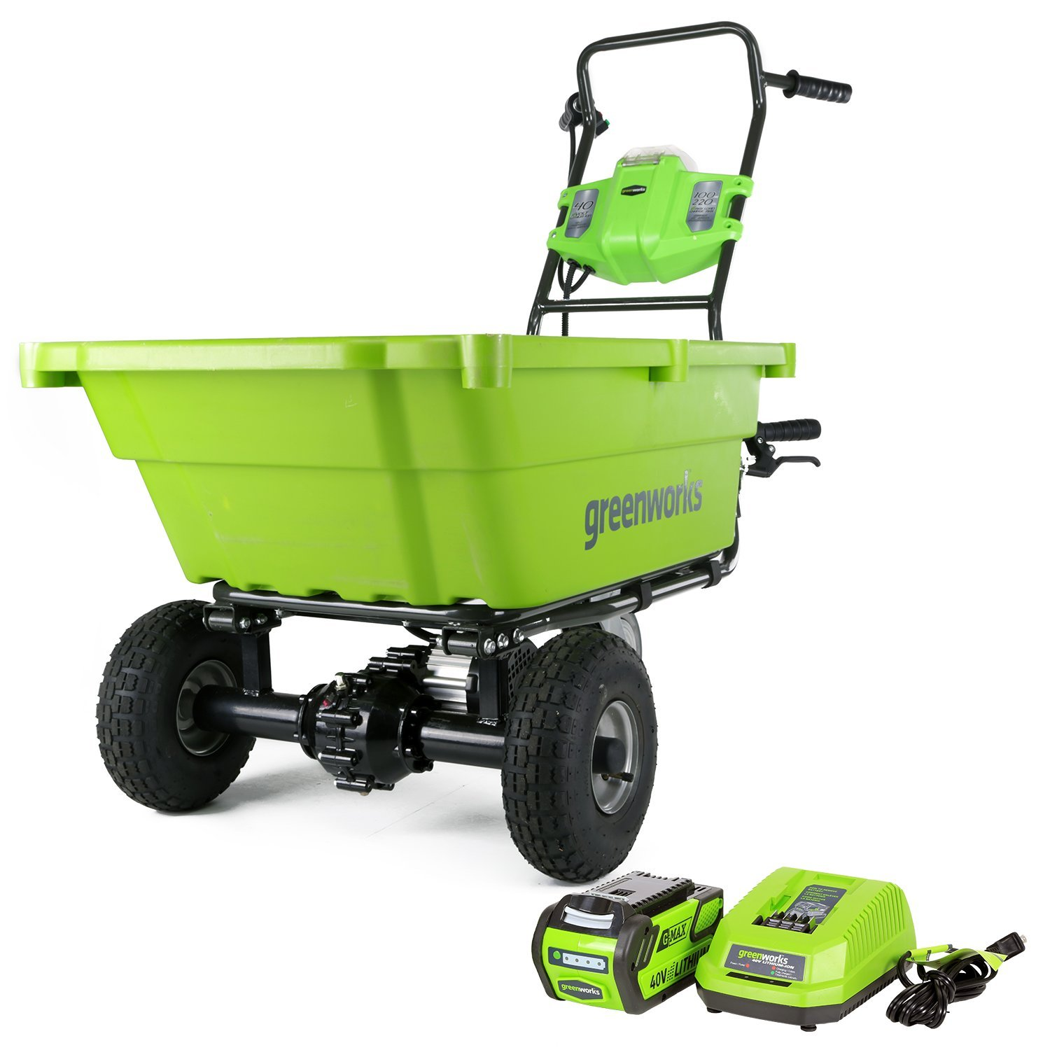 Greenworks GC40L410 40V Garden Cart with 4Ah Battery and Charger by Greenworks