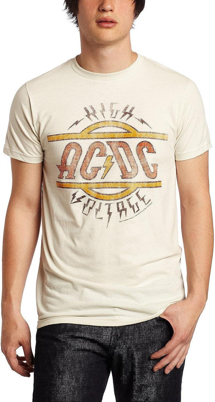 Amazon.com: AC/DC Mens High Voltage Distressed Slim Fit T