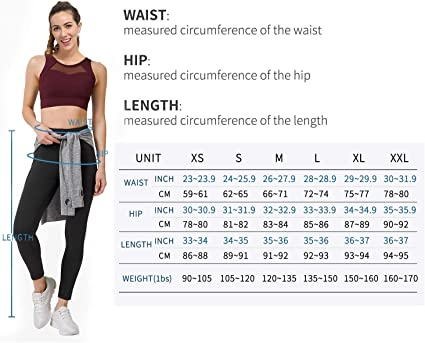 Amazon.com: PHISOCKAT 2 Pieces High Waist Yoga Pants with Pockets for Women Large: Clothing
