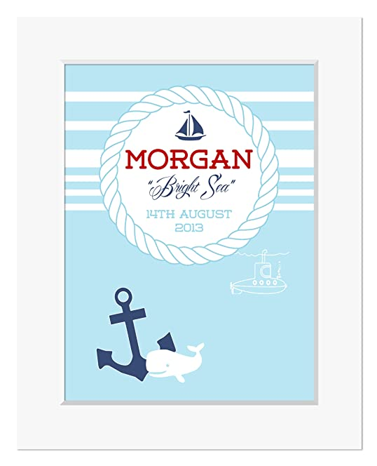 Personalised boys nautical meaning of name print baby boy gifts personalised boys nautical meaning of name print baby boy gifts personalised christening gifts negle Image collections