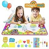 "Aqdola Aqua Magic Doodle Mat-Water Drawing Mat-Magic Educational Toys for 2 3 4 5+ Girls Boys Toddler with 3 Water Pens and Drawing Booklet, 34"" X 22.5"""