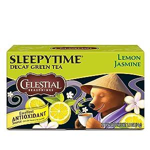 Celestial Seasonings Green Tea, Sleepy Time Decaf Lemon Jasmine, 20 Count