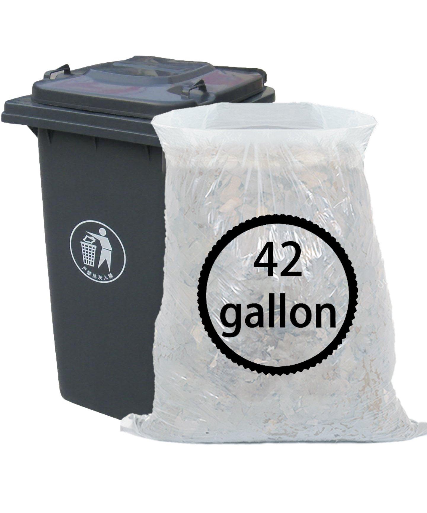 Ggbin 42 Gallon Large Trash Bags, White, 65 Counts