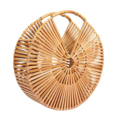 Everpert Summer Beach Bag Casual Vintage Round Bamboo Round Handbag Hollow  Purse Clutch for Women  Amazon.co.uk  Shoes   Bags