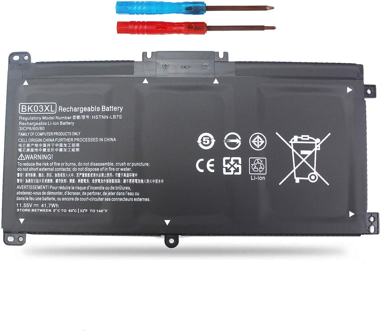 Vinpera BK03XL Laptop Battery for HP Pavilion X360 14-BA000 14M-BA000:14m-ba011dx 14m-ba013dx 14m-ba015dx 14m-ba114dx 14-ba253cl 14-ba125cl 14-ba175nr 14-ba051cl fit 916811-855 916812-855 TPN-W125
