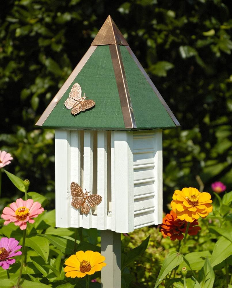 Heartwood Flutterbye Butterfly House in White