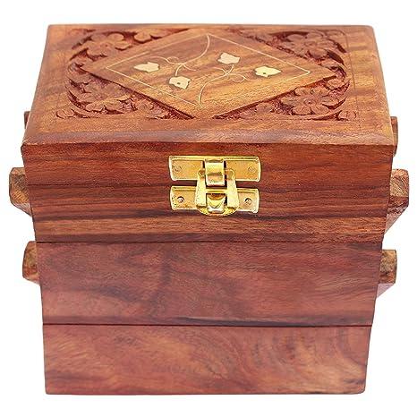 Amazon.com: GD - Caja de almacenamiento de madera hecha a ...