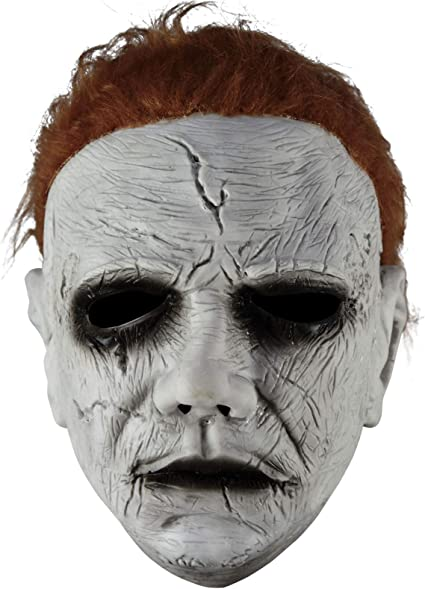 2020 Upgrade Michael Myers Head Costumes Halloween Costume More Facial Details Smooth and Soft Hair Cosplay Latex Props for Parties Masquerade Night Club Carnival Cosplay