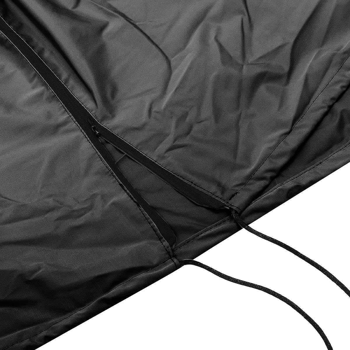 DELAMZ - Black Anti Dust Protector Cloth Waterproof Patio Heater Cover Outdoor Sun Rain Polyester Garden Courtyard Heater Cover Fabric by DELAMZ