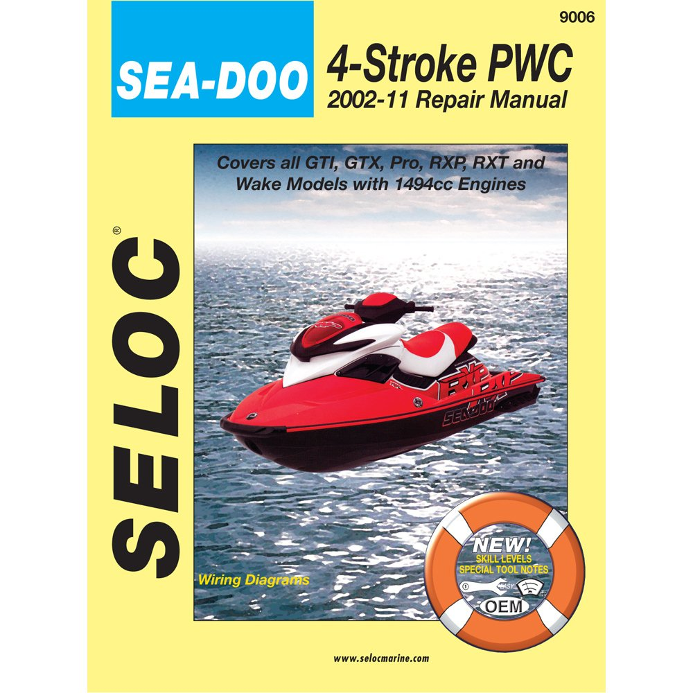Amazon.com : SELOC 9006 / Seloc Service Manual Sea-Doo Bombardier 4-Stroke  Engines - 2002-2010 : Computer Monitors : Sports & Outdoors
