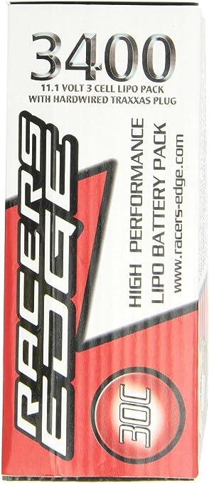 Racers Edge rcelp3s3400 – Lipo de batería con Conector TRX ...