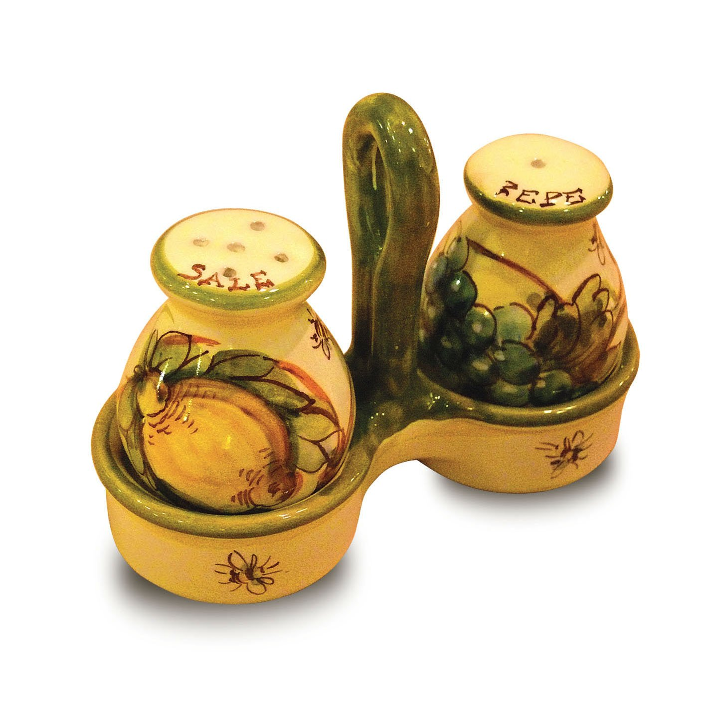 Toscana Hand Painted Bees Salt and Pepper Shakers From Italy