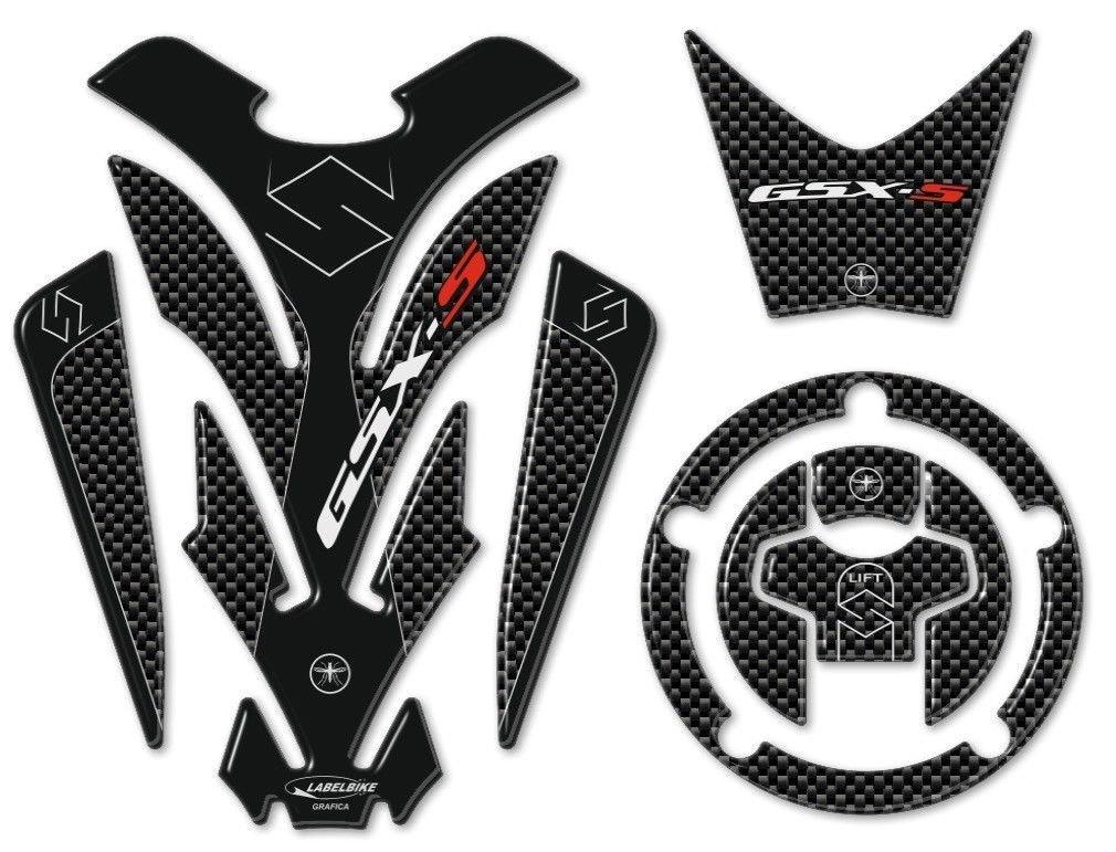 kit ADESIVI 3D PROTEZIONI in resina compatibili per MOTO GSXS SUZUKI GSX-S 750 Labelbike