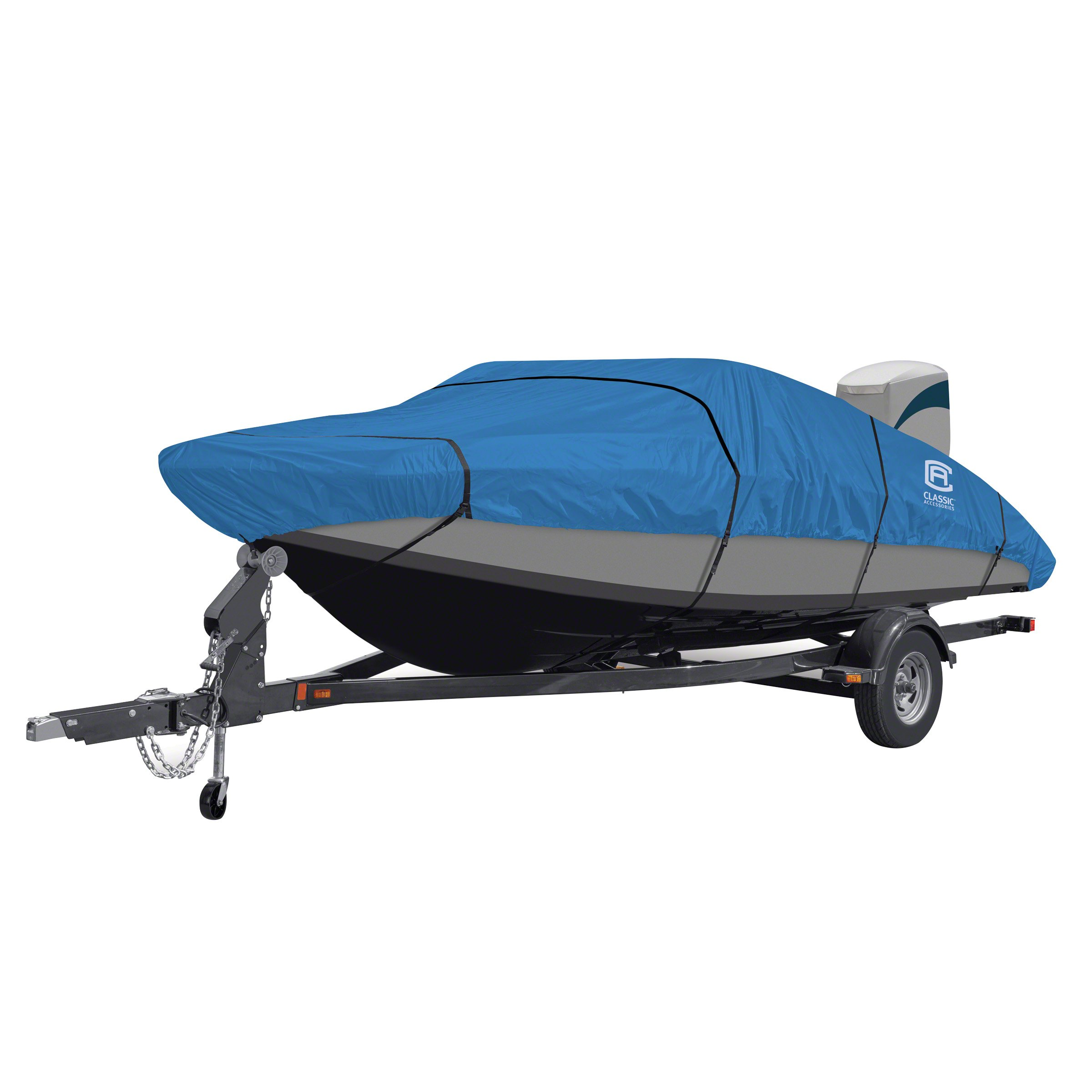 Classic Accessories Stellex Boat Cover For Utility/Fishing Boats, 12' - 14' L, Up to 68'' W by Classic Accessories