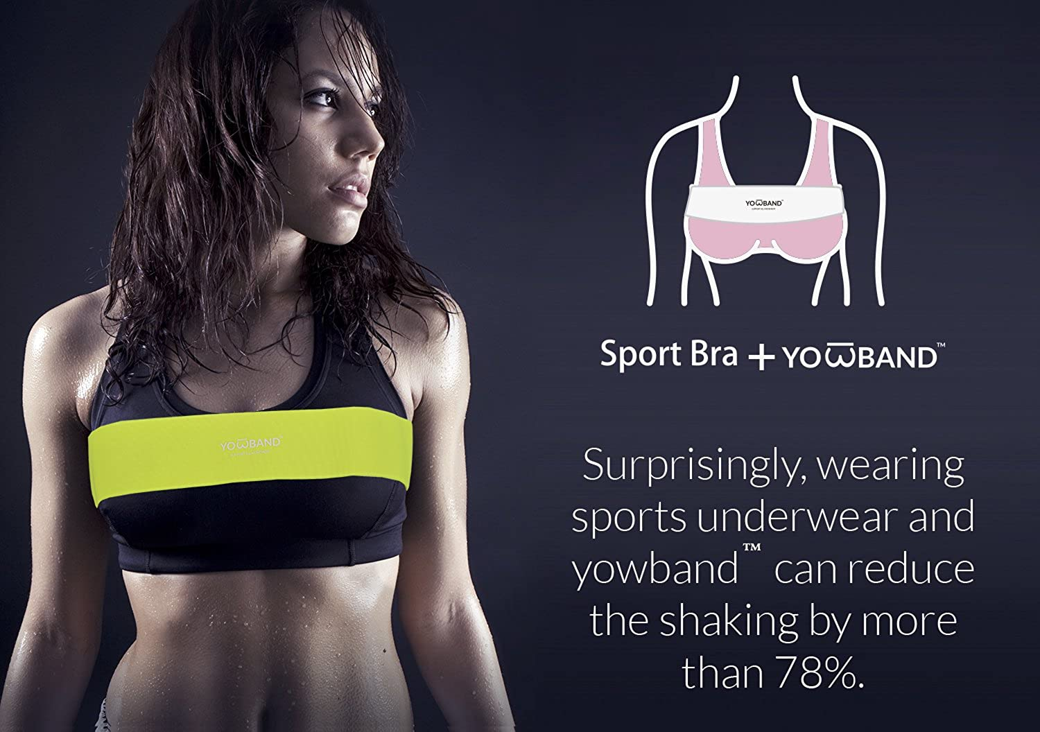 Breast Supports Band no-Bounce Sports Bra Alternative Adjustable 4 Size