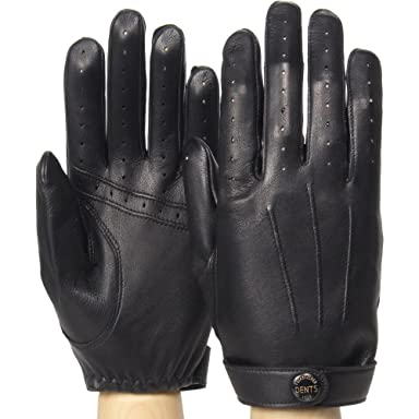 Fleming James Bond Spectre Leather Driving Gloves 15-1007: Black