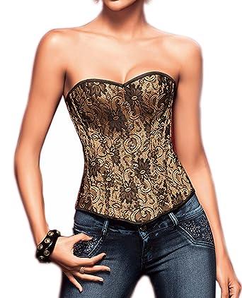 d9e472136e DISSA® Sexy Boob Tube Top Lace Corset  Amazon.co.uk  Clothing