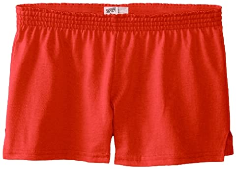 Soffe Big Girls' New Short, Cayenne, Small - Dyed Cotton Short