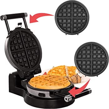 Health and Home KS-308 Upgrade Automatic 360 Rotating Belgian Waffle Maker