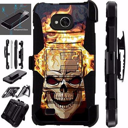 Amazon.com: Para LG X Power 2 M320/LG XPower 2 Cráneo Armor ...
