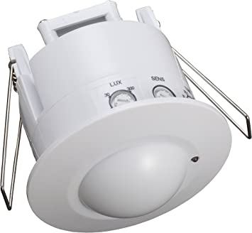 Garza Power /ángulo de Detecci/ón 360/º color Blanco Detector de Movimiento Infrarrojos SLIM de Techo Sistema de Superficie