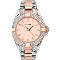 Seksy By Sekonda Women's Analogue Quartz Watch with Stainless Steel Strap 4233.37