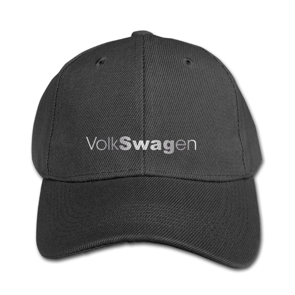Big Boys' Volkswagen VW Platinum Style Baseball Snapback Cap Black WBADLCW T-shirts