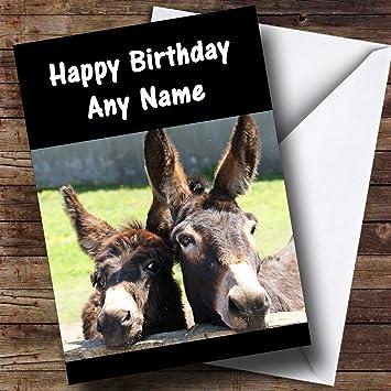 Donkeys Personalised Birthday Card Amazon Office Products