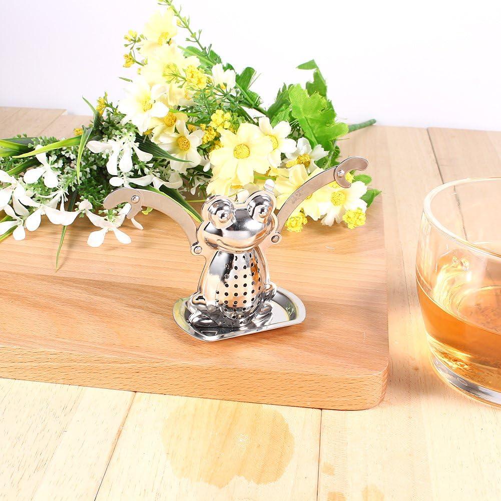 Stainless Steel Loose Tea Leaf Infuser Ball Strainer Filter Diffuser Herbal Spice Frog