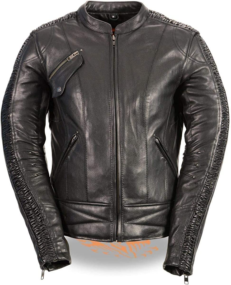 Milwaukee Leather MLL2570 Long-awaited Women's Our shop OFFers the best service Embroidered Phoenix Leat Black
