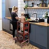 WishaLife Kids Kitchen Step Stool, Toddler Step Stool, Toddler Stool with Safety Anti-Slip Protection - Solid Hardwood…