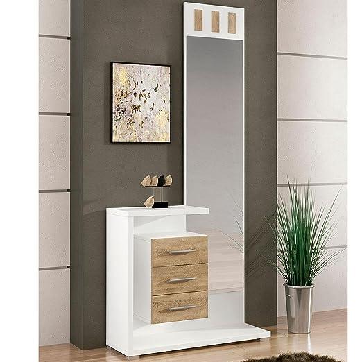 LIQUIDATODO ® - Mueble de recibidor Moderno Color Blanco ...