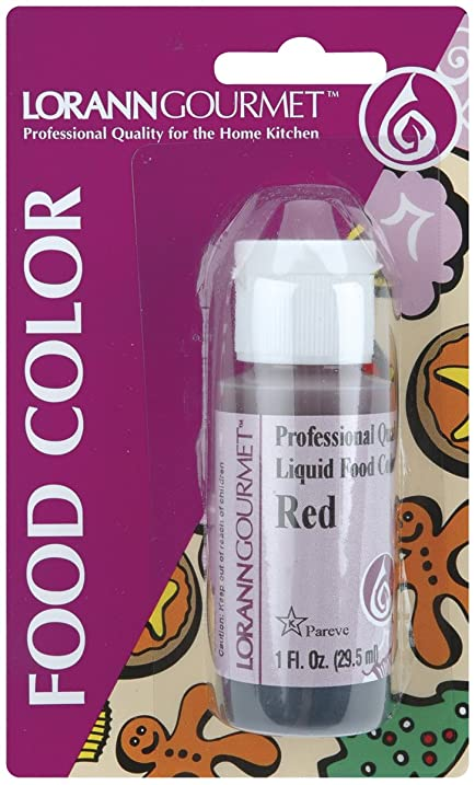 Amazon.com: Liquid Food Color 1 Ounce Bottle/Pkg-Red: Kitchen & Dining