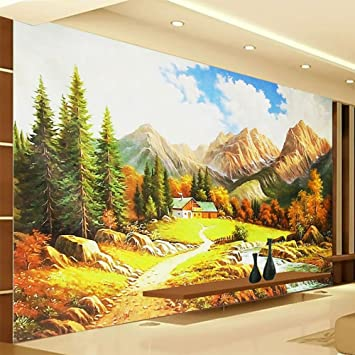 Colomac Wall Mural 3D Landscape Oil Painting Nature Beauty View