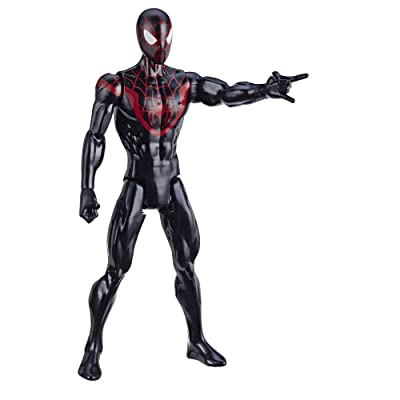 "Spider-Man Marvel Titan Hero Series Mile Morales 12""-Scale Super Hero Action Figure Toy Great Kids for Ages 4 & Up: Toys & Games"
