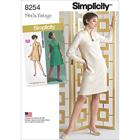 Simplicity Pattern 8254 Aa 1960s Vintage Dress For Miss And Plus
