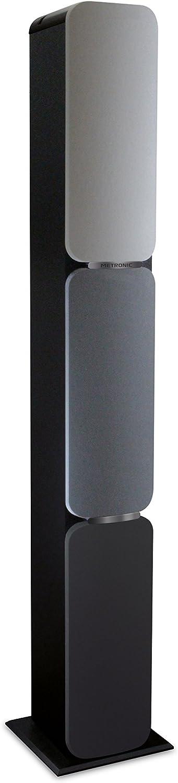 Metronic 477092 - Columna Bluetooth, altavoz de suelo, potencia: 240W, entrada jack 3,5mm, USB Play&Charge, altura: 125cm, Gris/negro, 23x25x125 cm
