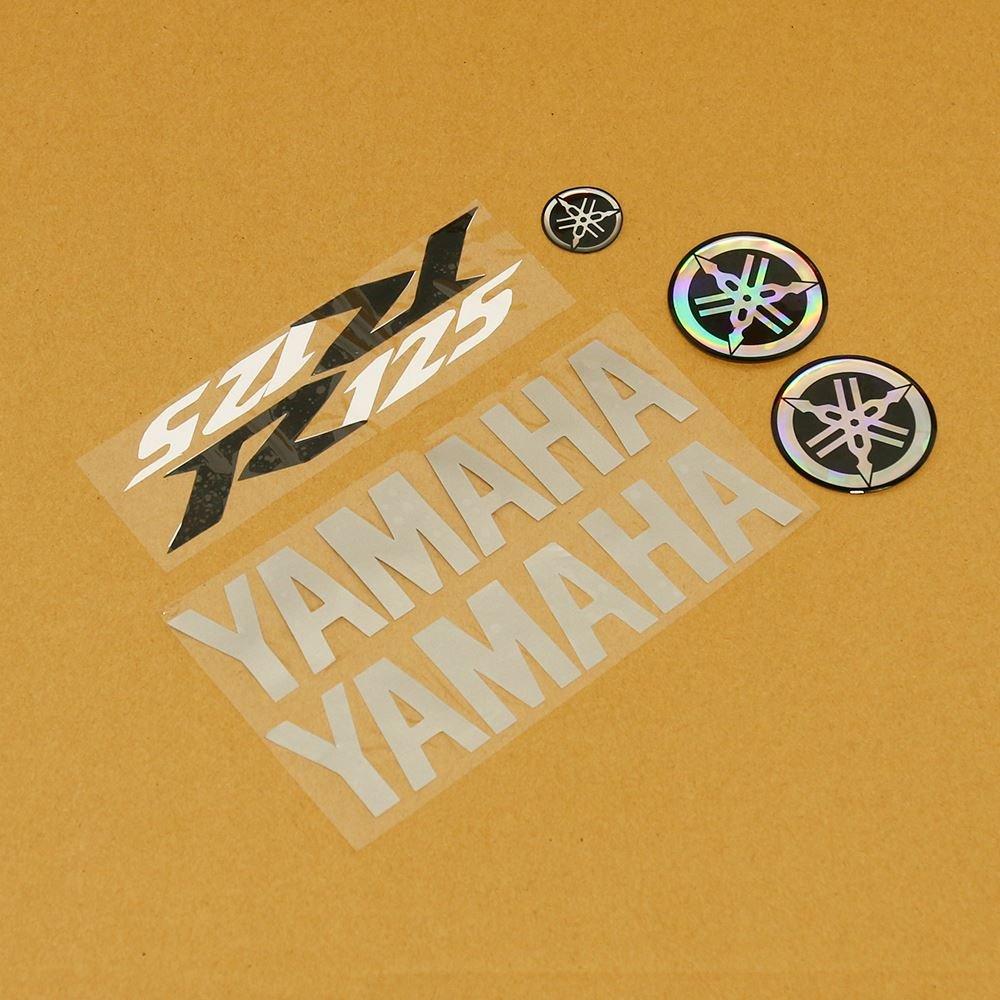 YZF-R125 08-17 Silver//Black//White 7 Piece Sticker Set Yamaha