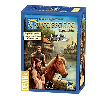 Carcassonne – INNS and Cathedrals (Devir bgcarpo): Toys & Games